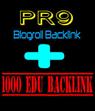 Premium 1,000 EDU Link Building SEO Domain Backlinks FIRST Page of Google - PR9