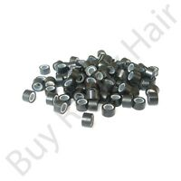 500pc Hair Extension Silicone Micro Rings/ Links Black 5mm easy to use