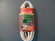 stanley 15' 3 outlet indoor extension cord 16 awg