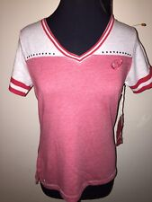 Detroit Red Wings Medium Antigua S/S Shirt NWT Soft Women's Heather/Red NHL