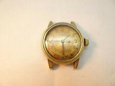 VINTAGE GOLD FILLED  Patina dial Boulevard Avia 17 jewel watch runs
