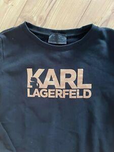 Karl Lagerfeld Sweatshirt Gr.L schwarz TOP