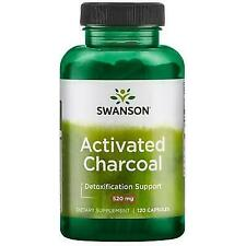 Activated Charcoal 260 MG 120 Caps by Swanson Premium