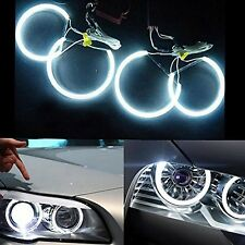 Halo Ring CCFL Angel Eye Kit 4x 131mm 6000K Bright CCFL LED Lights Car Headli...