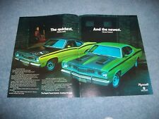 """1971 Plymouth Duster 340 & Twister Vintage Color Ad """"The Quickest And the Newest"""