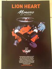 RARE HOLDEN MONARO POSTER ENGINE GTS 327 1968 V8 MOTOR BATHURST PETER CAR DRag1