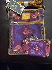 Disney Loungefly Aladdin Jasmine Magic Carpet Passport Crossbody Bag & ID Wallet
