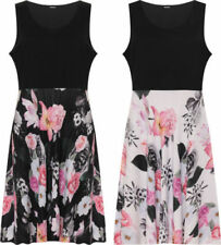 Floral Sleeveless Dresses for Women with Pleated