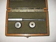 Bendix Sheffield Ring Gage Set GO .3755 NO-GO .3750 in Wooden Box