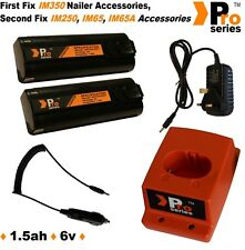 2xProSeries Batteries for Paslode IM350/IM250 +Wall Charger+Base+In Car Charger