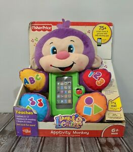 Fisher-Price Laugh and Learn Apptivity Monkey iPhone iPod Case Holder Toy ~New!