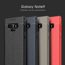 For Samsung Galaxy Note 9 Shockproof Slim Leather Soft Rubber Phone Cover Case