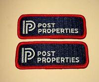 2 Vintage Post Properties Employee Patch New NOS 1970s Atlanta Georgia