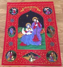 Handmade Nativity Wall Hanging - Vintage 1996 Christmas - Fast Shipping