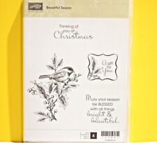 RETIRED Stampin Up Beautiful Season Christmas Holiday Cardinal Blessed A gift