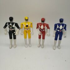 1993 Bandai Mighty Morphin Power Rangers Lot: Red, Blue, Black, Yellow 4.5""