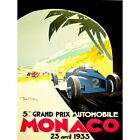 Sport Advert Motor Race Grand Prix Monaco Monte Carlo 12X16 Inch Framed Print