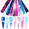 10Pcs/Set Flower Marble Nail Foils Nail Art Foil Transfer Stickers Decals Tips