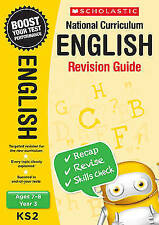 NEW Scholastic ENGLISH 7-8 (year 3) KS2 NATIONAL CURRICULUM REVISION GUIDE SATS