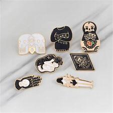 Badge T-shirt Collar Pins Badge Jewelry 7pcs/Set Hard Enamel Punk Skull Brooch