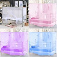 White Four Corner Canopy Bed Netting Mosquito Net Full Queen King Size Bedding