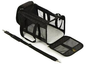 New Sherpa Original Deluxe Pet Carrier Medium Soft Side Dog Travel Bag Black
