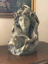 FRIEDRICH GOLDSCHEIDER, ancien buste de femme en Plâtre XIX ème s. signé SIMON