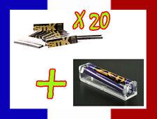 20 carnets de longue feuille à rouler SMOKING SMK + Rouleuse cigarette Zen cone