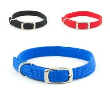 Ancol Softweave Nylon Collar  - Blue Red Black Collars Leads