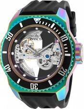 New Mens Invicta 25628 Russian Diver Automatic Skeletonized Iridescent Watch