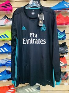 Adidas Mens Real Madrid Long Sleeve Away Soccer Jersey Size XL