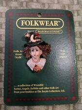 Boyds Bears And Friends Folkwear Pin, Esmeralda the Witch. 1995.
