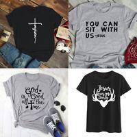 God Is Good All The Time T-shirt Faith Tee Faith Jesus Tops Shirts Plus Size