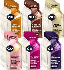 GU Energy Original Sports Nutrition Energy Gel, 24-Count, Assorted Flavors