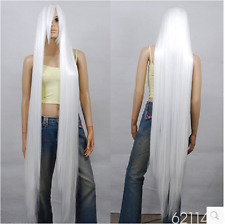 wholesale 150cm Extra Long White Cosplay Wig - 60 inch High Temp - Cosplay Wigs