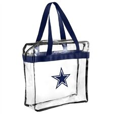 NFL Dallas Cowboys Clear Zipper Massenger Bag Stadium Approved
