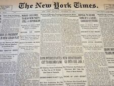1930 DECEMBER 27 NEW YORK TIMES - NORRIS DECLINES TO HEAD NEW PARTY - NT 5718