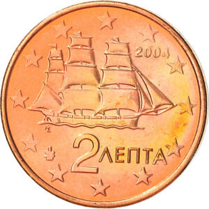 [#382193] Grèce, 2 Euro Cent, 2004, Athènes, SUP+, Copper Plated Steel, KM:182