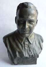 Russian Soviet children's writer GAIDAR metal bust statue sc. Yarosh 1956 USSR
