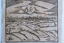 44-53-5 Gravure carte sur bois Sébastien Munster époque fin 16e