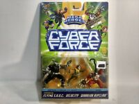 Cyber Force Mega Heroes Limited Edition Flying SHOC Velocity Warrior & Ripclaw