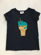 Euc Hanna Andersson girls short sleeve cat ice cream cone size 120 (Us 6-7)