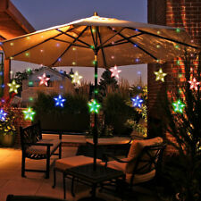 Mains Plug In LED Curtain Fairy String Lights 12 Stars Xmas Bedroom Window Decor
