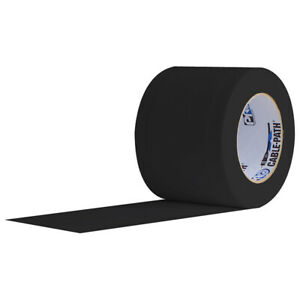 """Pro Tape Cable Path Tape 4"""" x 30 YD Black"""