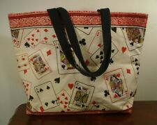 Cards Themed Canvas Tote Bag - Poker Casino - Free Shipping
