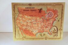 1 Large 8.5x 11 inches Postcard of Native American Indian Tribes Map  New