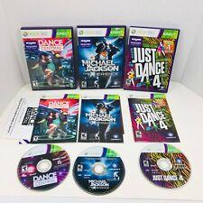 Michael Jackson Experience Just Dance 4 Dance Central Microsoft Xbox 360 Lot X3