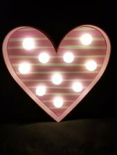 Heart Marquee Light Love Valentines Day Decoration free standing pink white