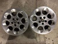 "Alfa Romeo 156 147 cerchi in lega 15"" COPPIA ORIGINALI wheels felgen jantes"
