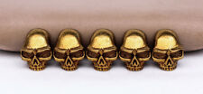 10PC 17X22MM Coppper Leathercraft Skull rivet stud Rock screwback Conchos Wallet